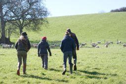 The Grown in Totnes team get a tour of John Crisp's farm