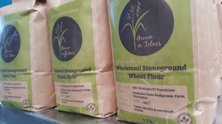 Grown in Totnes Wholemeal Stoneground Wheat Flour