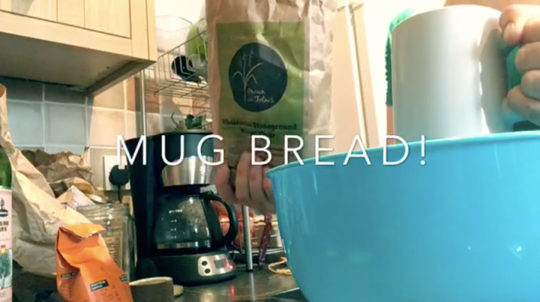 An easy bread recipe, make bread without scales with local flour.
